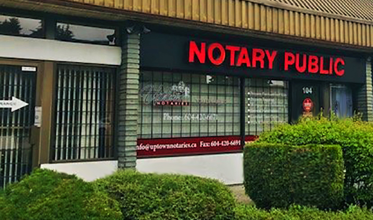Uptown Notaries Burnaby Office